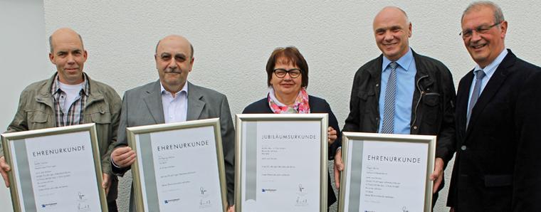 Detlef Fischer, Wolfgang Müller, Petra Müller, Edgar Müller, Dietmar Weidenbörener. (v.l.)