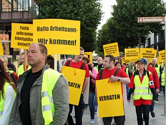 Demonstration durch Fulda