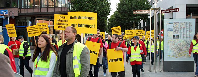 Demonstration durch Fulda