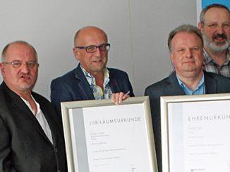Michael Lutz (Vizepräsident ZDS), Ralf Laudahn (Vorstandsmitglied ZDS), Herbert Büttner, Andreas Kugler, Olaf Scherber (Vorstandsmitglied ZDS), Arno Carius (Präsident ZDS) (v.l.)