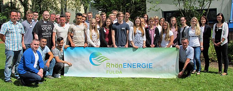 Ausbildungsbeginn bei der RhönEnergie Fulda-Gruppe.