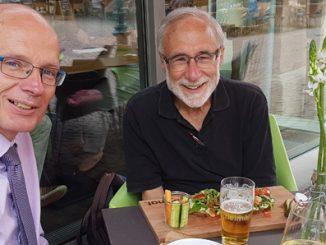 Lou Coenen und Pressesprecher Richard Hartwig.