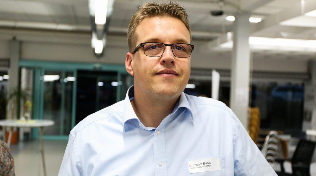 """Christian Babic, Waibach Living GmbH: """"Es war sehr kurzweilig und ein toller Einstieg für Neulinge. Der Redner hat uns einen guten Überblick verschafft und das Potenzial von Blockchain und Kryptowährungen aufgezeigt."""""""