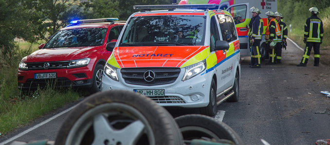 Tödlicher Verkehrsunfall zwischen Schlitz und Pfordt